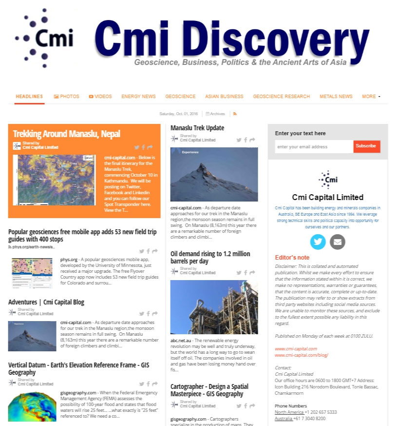 Cmi Discovery Newspaper OUT NOW! Please Enjoy. http://buff.ly/2dyyiGs