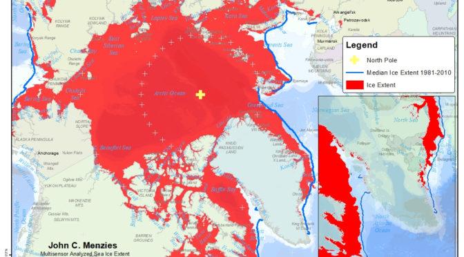 Arctic Sea Ice extent 3/01/2020